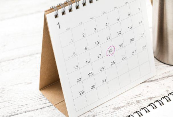パッと色で予定の種類がわかるカレンダーを使ってみませんか?