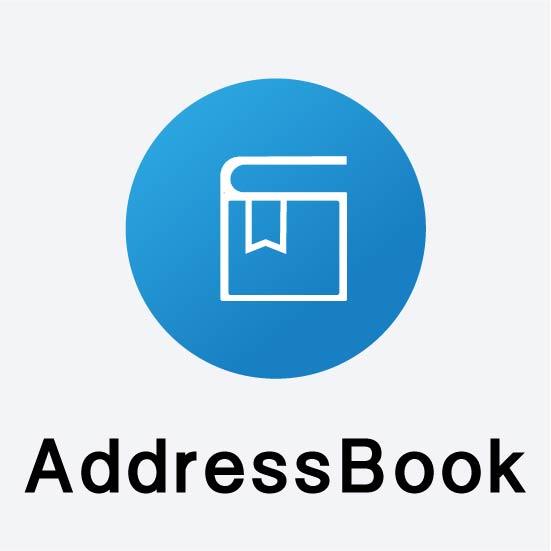 アドレスブックのアイコン